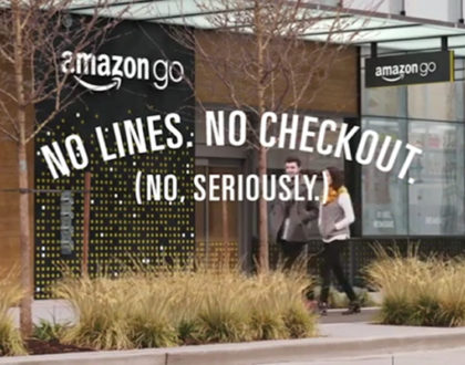Amazon: no lines...no checkout: il nuovo negozio Amazon Go!